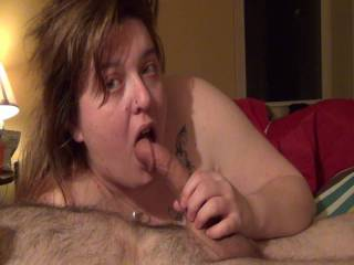Relaxing in bed. Getting a blowjob, of course. Hehehe....