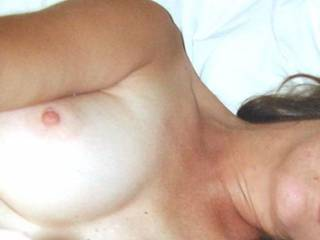 Julie in throes of passion with fingers up her twat