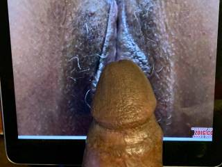 She\'s so wet and sweet and her gorgeous pussy lips opening up for this bbc. mmmm Who wants the bbc next.mmmmm?