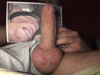 Another tribute for wellhungtongue69. My balls are swollen full and needing to unload, I want to feel your warm wet talented mouth working my hard shaft. It would be a big bonus if you would run that long tongue all over my big heavy nuts too!! Ahhhhhh
