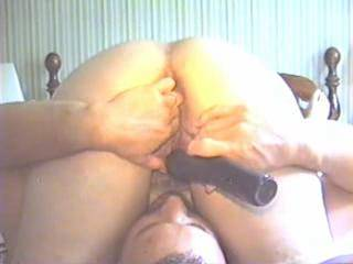 I loved eating the stars and stripes covering her pussy. Each time she deepthroats me you can see her pussy spasm. More to cum!