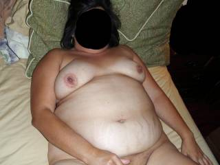Me chillin' in the bed waiting for hubby to fuck me!