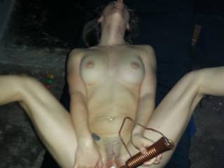 This is my favourite toy, it makes me cum straight away, and cum and cum all night. And with a big hard cock fucking my pussy I turn into a sex crazed cumming machine...