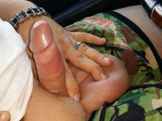 Just a cock pic before I suck his cock in the car!