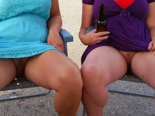 very sexy you are beaver twins...lol you both have amazing legs and thighs would love to eat you both see what the combo of pussy juice tastes like im thinking it would be very tasty