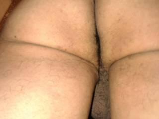 uncut cock, rear view