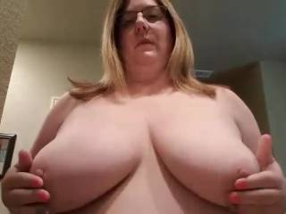 Horny girl I know showing me her big titties