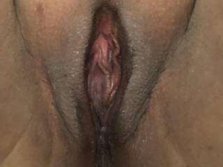 Shaved pussy for my loyal followers.