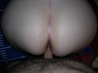 Fucking that great big ass doggy style, about to bust one