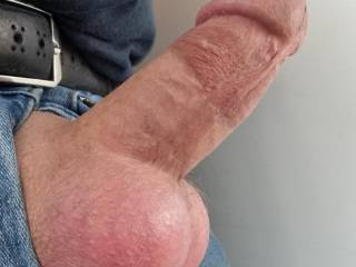 Love my shaven cock and balls, what do you think?