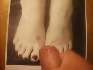 Me wanking and cumming over Michelle\'s picture of her very sexy feet she sent me. Do you have any pic\'s you want me to do this to? and I\'ll post it on here for you.
