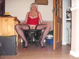 black stockings spread