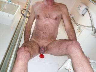 Enjoying myself in the shower