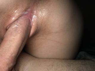Getting her wet hole filled like a good slut wife