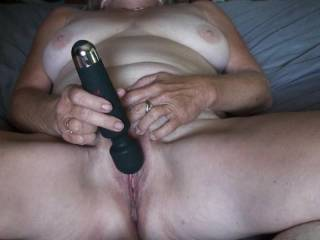 Just me having a little fun with my new cordless Wand Vibe.  It looks so much like a cordless Microphone that I want to sing into it once I have Cum.lol  So did you enjoy me cumming as much as I did?