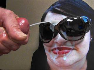 Jacking my hard cock and shooting my hot thick cumload all over my GF's sunglasses request!