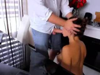 Hot blowjob in the kitchen