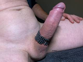 who would like to slide down my cock and feel the beads in their hot wet pussy as we slowly fuck?
