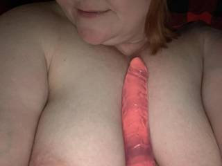 I got home early from work and wanted to surprise Sir. So I stripped naked, got my toys out, and had a solo session and sent him the pics!! I am about to slide this bad boy all the way in my pussy and put the turbo bullet against my clit! Leave comments.
