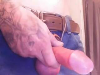As you can see my cock is hard as a rock in this video its on my home girls phone I asked to borrow it and went to her bathroom jacked my huge cock nutted everywhere and left it for her and walked out handed her phone back laughing...needless to say