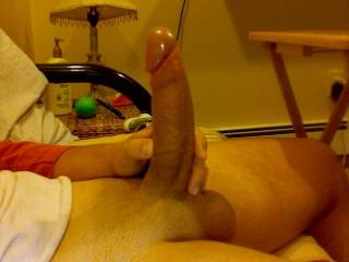 want your balls slapping my ass while you fuck me hard and deep.  wow, hot cock!  would love your thick cock in my hole