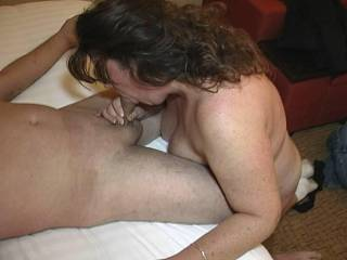 I know if my cock gets that close to your tits and mouth, I'm blowing a big load on you!