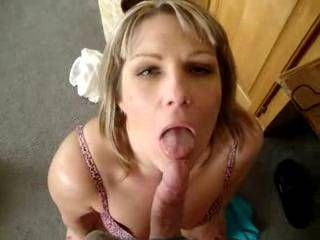 she is a dirty little girl slut...my lady said she would love to share your cum with her....having your lady drip your cum into her mouth from your ladies mouth....would she do that?