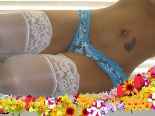 my blue lace panty