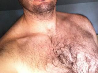 hairy chest, leaving something to the imagination