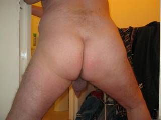 Showing my bare bum to friends at a sex party