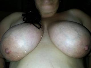 would love to fuck her massive melons and cum on her stretch marked belly...she is amazing !
