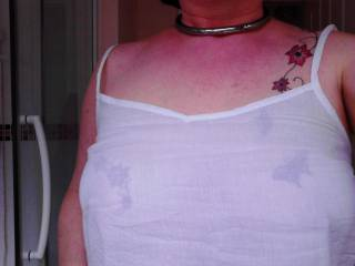 Is this camisole too see thru to wear as a top in public? My Submissive DID wear it out like that!