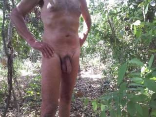 It is such a great feeling to be naked outdoors.  I do it when ever I can. Tell me if you like to be naked outdoors too.
