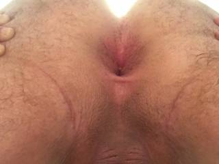 I took this right when I got home after I took my first cock in the ass. My hole is still open from being stretched out for the first time.