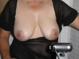 Showing my tits during a video chat