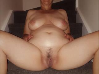 Spreading my legs - hope you like.