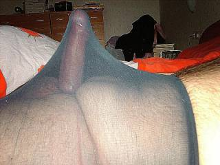 i want your nylon covered cock in my pussy
