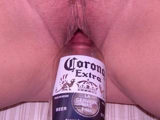 Just love this picture of her fucking a beer bottle