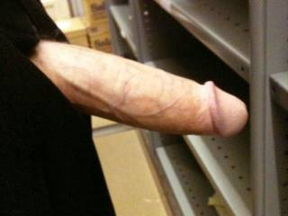 was bored and horny at work, needed to release my cock from it's fabric prison! haha