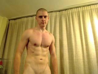 me posing half naked