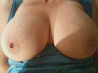 Mmmm. Love to be laying on top of you and squeezing you wonderful tits.
