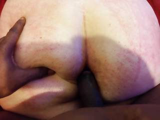 He really wants to get into that big sexy white ass. I want to fuck your ass too.