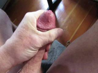 put a cock ring on that soon got too tight. had to slip it off gradually. friend talked my through masturbation so I could cum.