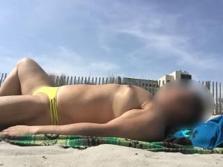 Bikini, speedo, thongs, underwear, sunbathing, outdoors, Atlantic City
