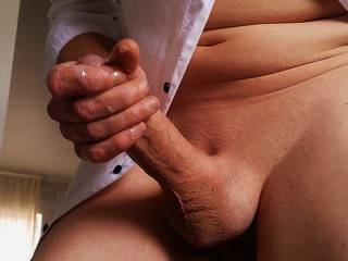 Sticky handful of cum.MESSY!