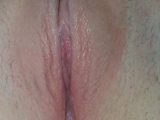 Just about to slide my tongue between her pussy lips. My girlfriends pussy tastes amazing and I wish you all could feel how wet she gets. Take a pic of yourself jerking off with her pussy pic