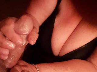 65 year old big titted woman give me a nice handjob