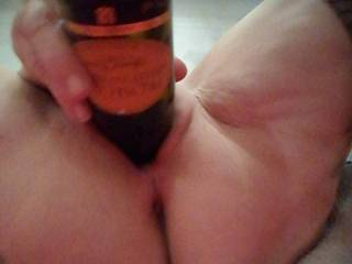Hi all playing with a small wine bottle, now I want a bigger bottle to try dirty comments welcome mature couple