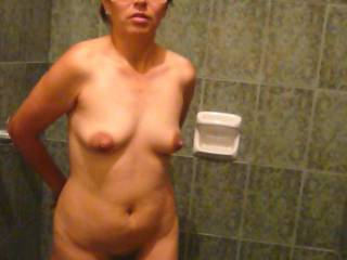 My slutty wife waiting in the shower for you to soaps her up and then make love to her.