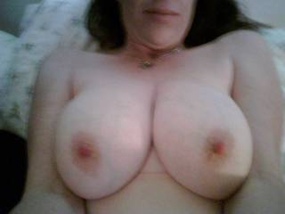 She has the best natural HUGE tits. All day suckers!